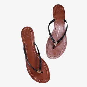 Tory Burch Terra Thong Leather Sandals